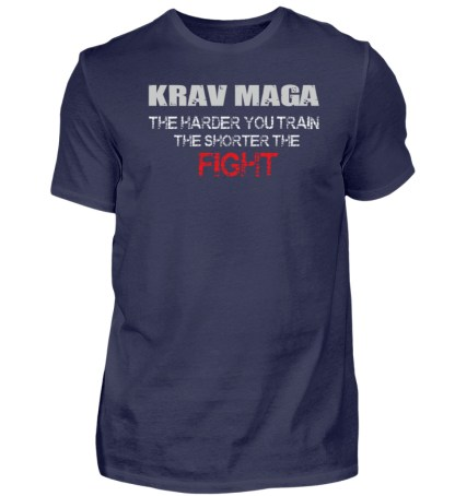Krav Maga - The Harder You Train... - Herren Premiumshirt-198