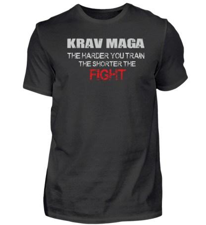 Krav Maga - The Harder You Train... - Herren Premiumshirt-16