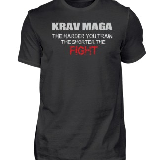 Krav Maga - The Harder You Train... - Herren Premiumshirt-16
