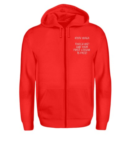 Krav Maga Touch me! And Your First.. - Zip-Hoodie-5761