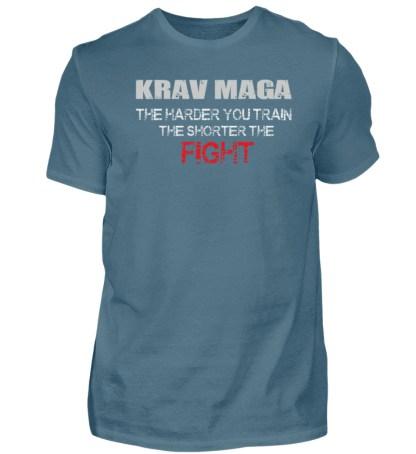Krav Maga - The Harder You Train... - Herren Shirt-1230