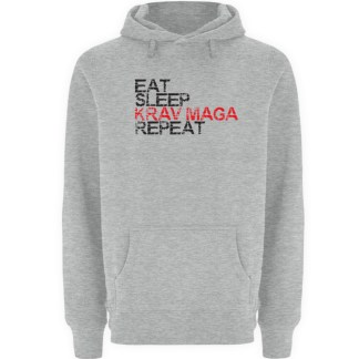 Eat Sleep Krav Maga Repeat - Unisex Premium Kapuzenpullover-6807