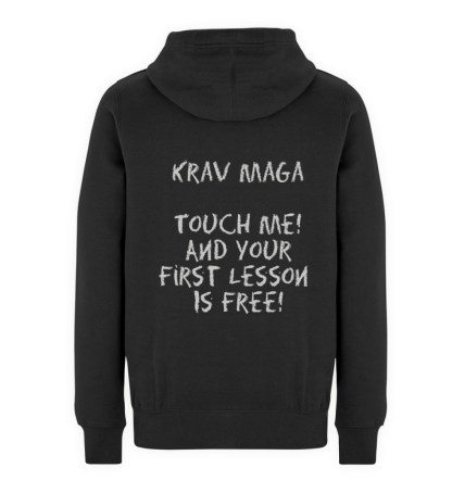 Krav Maga Touch me! And Your First.. - Unisex Premium Kapuzenpullover-16