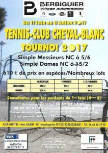 Tournoi Open Tennis Club Cheval Blanc Vaucluse