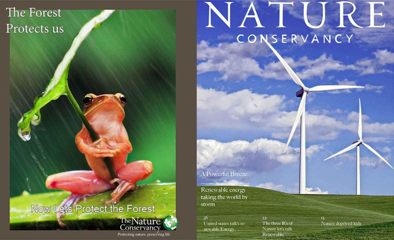 Haily Bonde's Nature Conservancy Magazine cover