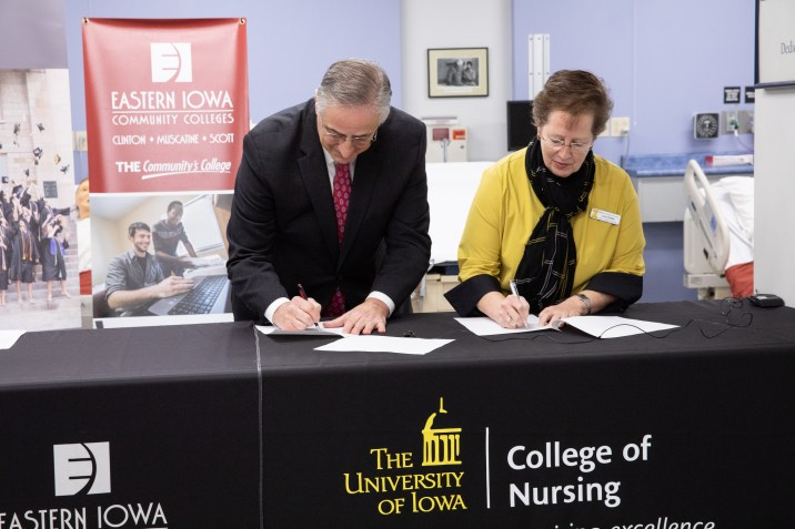 Nursing Agreement signing press conference