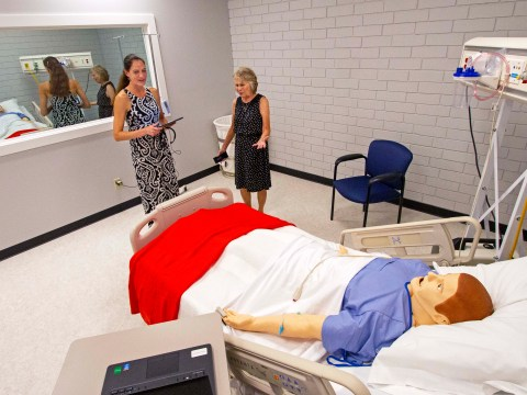 Nursing instructors show off new labs and simulators