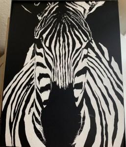 Zebra by Ashley Hartwig, Math Instructor at SCC