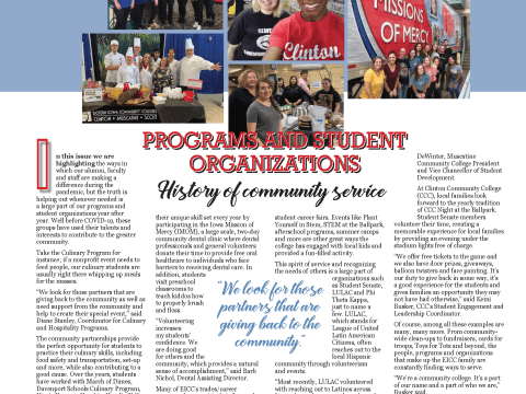 Programs and Student Organizations Magazine Layout