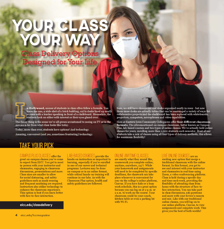 Your Class Your Way Magazine Layout