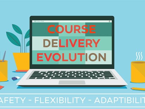 Course Delivery Evolution on a laptop
