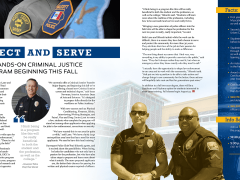 Protect and Serve Magazine Layout