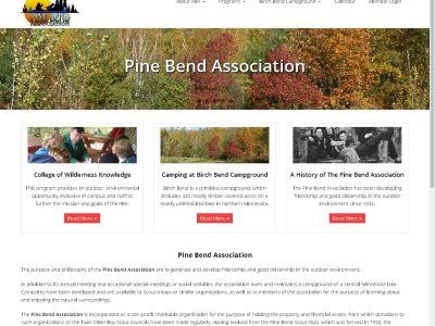 Pine Bend Association website image