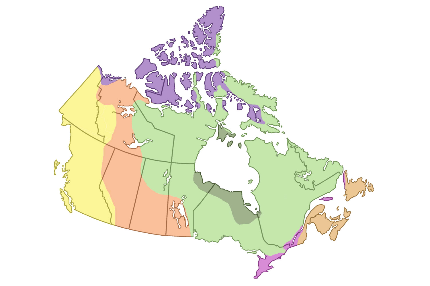 Map Of Canada Grade 9 Geography
