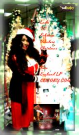 Ladii TC Christmas GREEING AD Card Pic