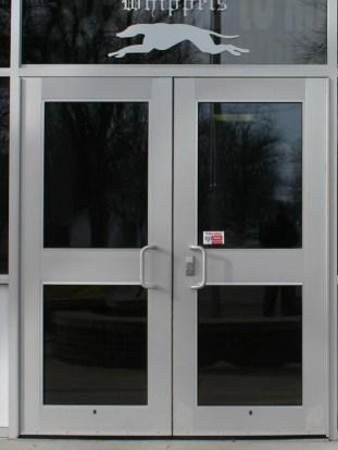 Glass work done by Tri-County Glass Inc.   Minden High School - Minden , NE
