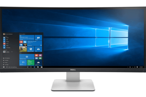 """Front view of 34"""" Curved Monitor"""