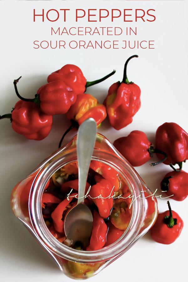 A sour orange infused hot pepper sauce recipe from Haiti   tchakayiti.com