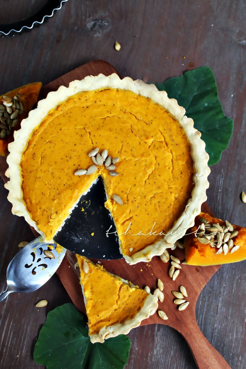 A savory Haitian joumou pumpkin pie that is easy to prepare and flavorful. Plus it only calls for a few pantry ingredient and your favorite cheese. | tchakayiti.com