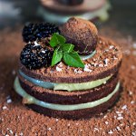 This unusual dessert is made of layers of flattened rum infused Haitian chocolate truffles and a sweet sour orange custard. A true delight for your tastebuds. | tchakayiti.com