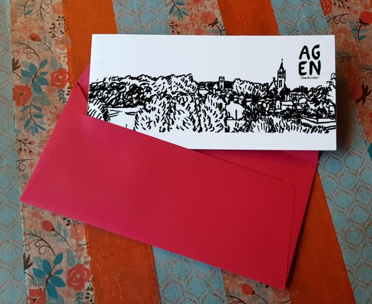 Carte postale createur Agen