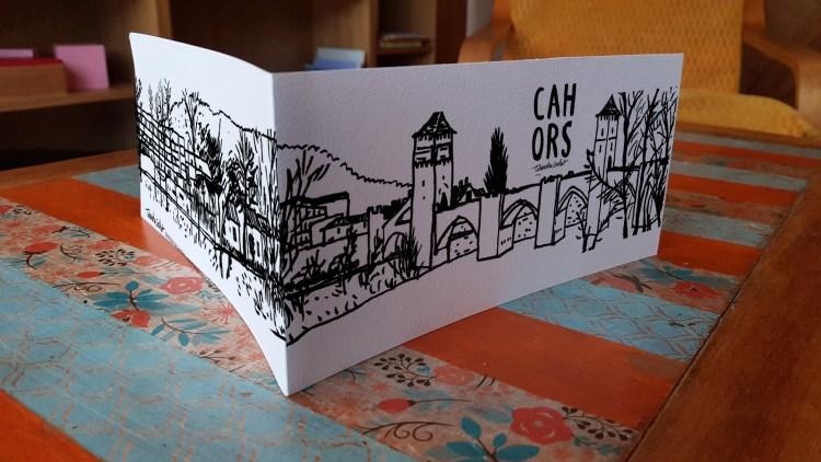 Carte panoramique Cahors