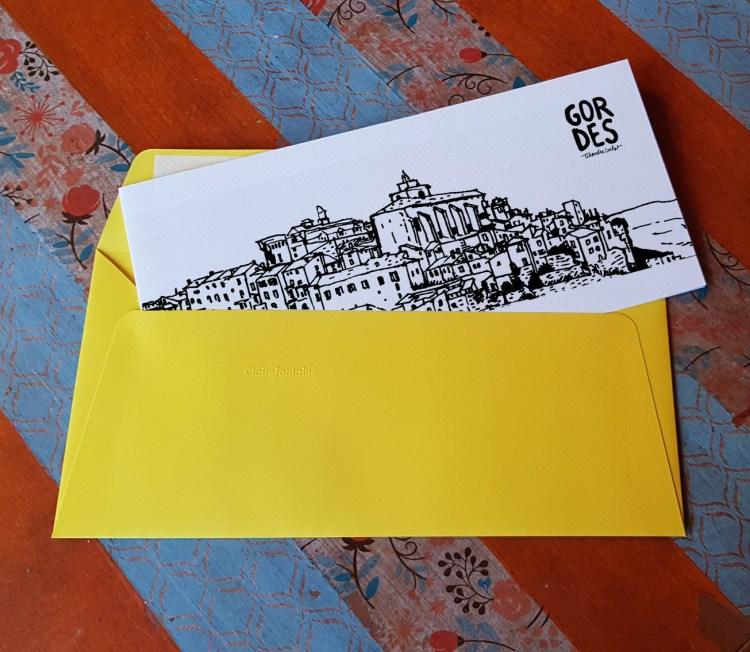 Carte postale createur Gordes