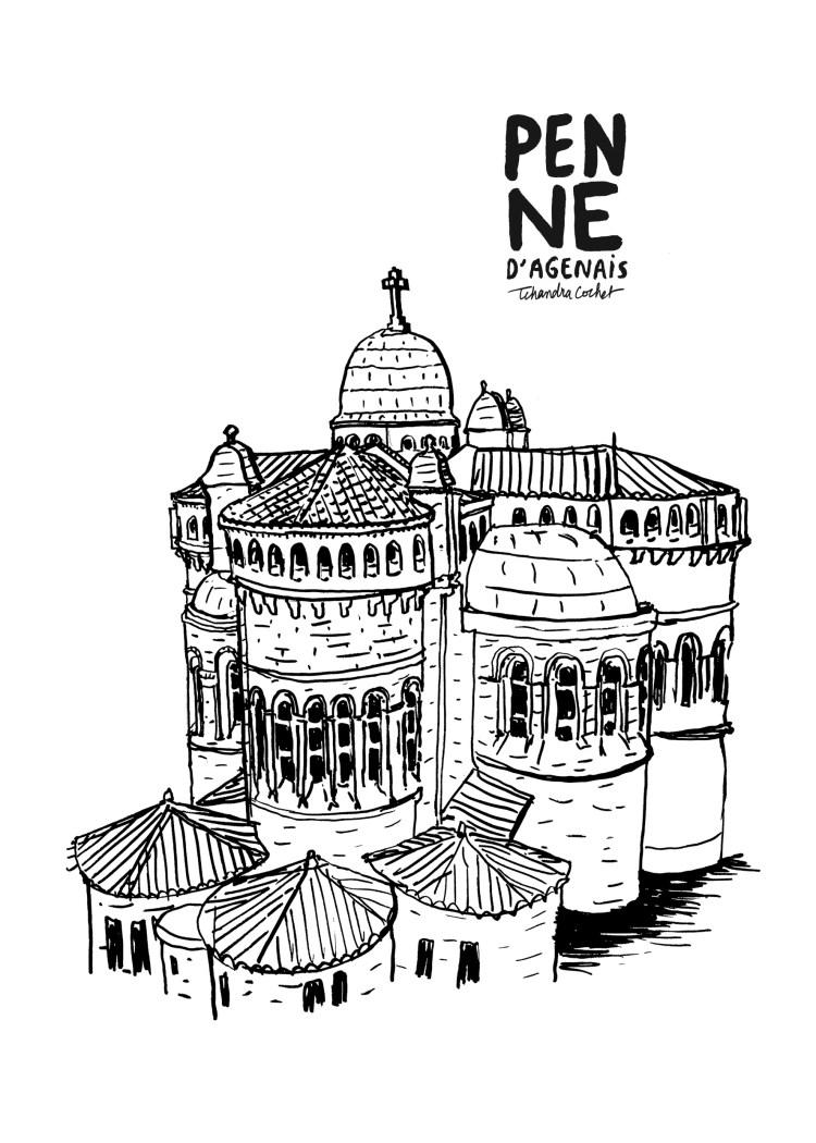 Dessin Notre-Dame de Peyragude par Tchandra Cochet