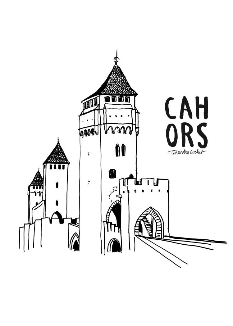 Affiche Cahors pont du Diable