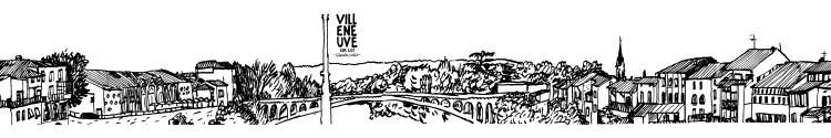 Affiche dessin Villeneuve-sur-Lot