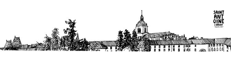 Affiche panoramique abbaye de Saint-Antoine