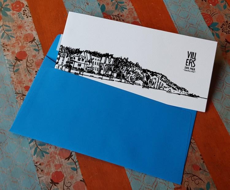 Carte postale panoramique Villers-sur-Mer