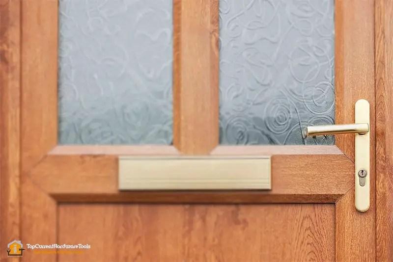 Best Door handle on a wood and glass front door