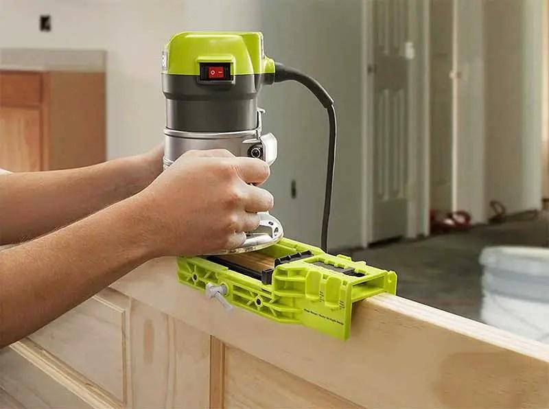 Mortising hinge with RYOBI A99HT2 Door Hinge Installation Kit