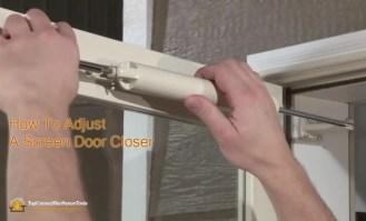 How to Adjust a Screen Door Closer
