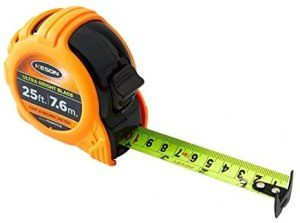 Keson PG1816UB Short Tape Measure - Most Accurate Tape Measure For Cabinet Making