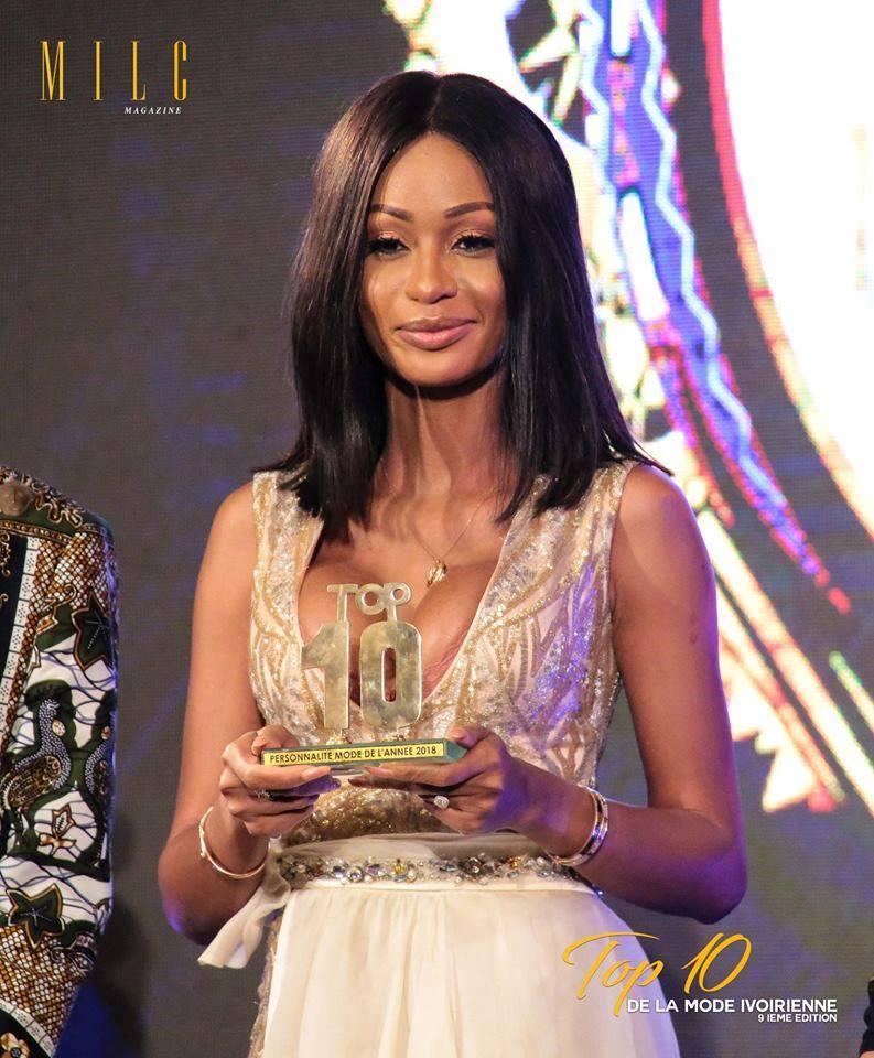 Sery Dorcas au Top 10 de la mode ivoirienne 2018