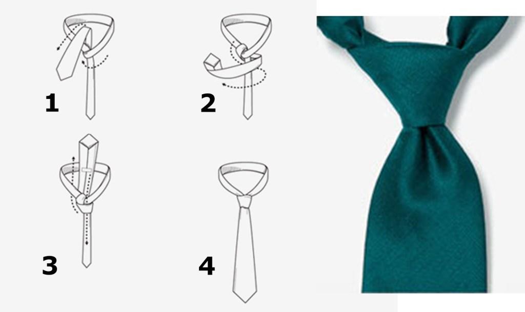 Le nœud de cravate demi-windsor