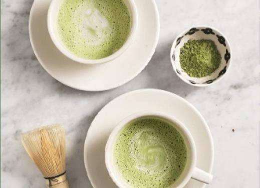 Blast From the Past: Matcha green tea latte with zen green tea matcha