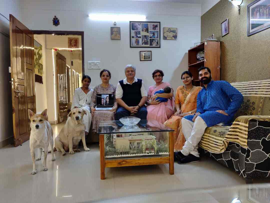 Rajiv Lochan Regarding the Pandemic - Photo of Lochan and his family.