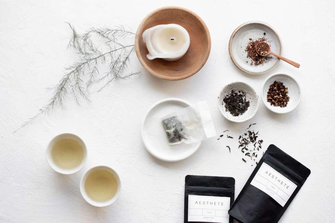 Aesthete Tea - Photo of teas arranged in small bowls