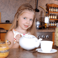girl with teapot
