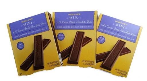 5 of 10 Non-Japanese Snacks: Trader Joe's Mini 70% Cacao Dark Chocolate Bars