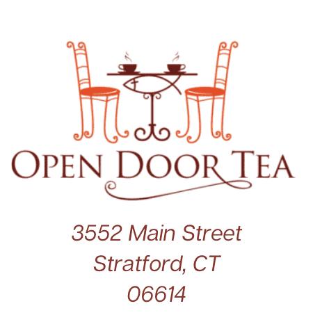 Open Door Tea Logo & Address