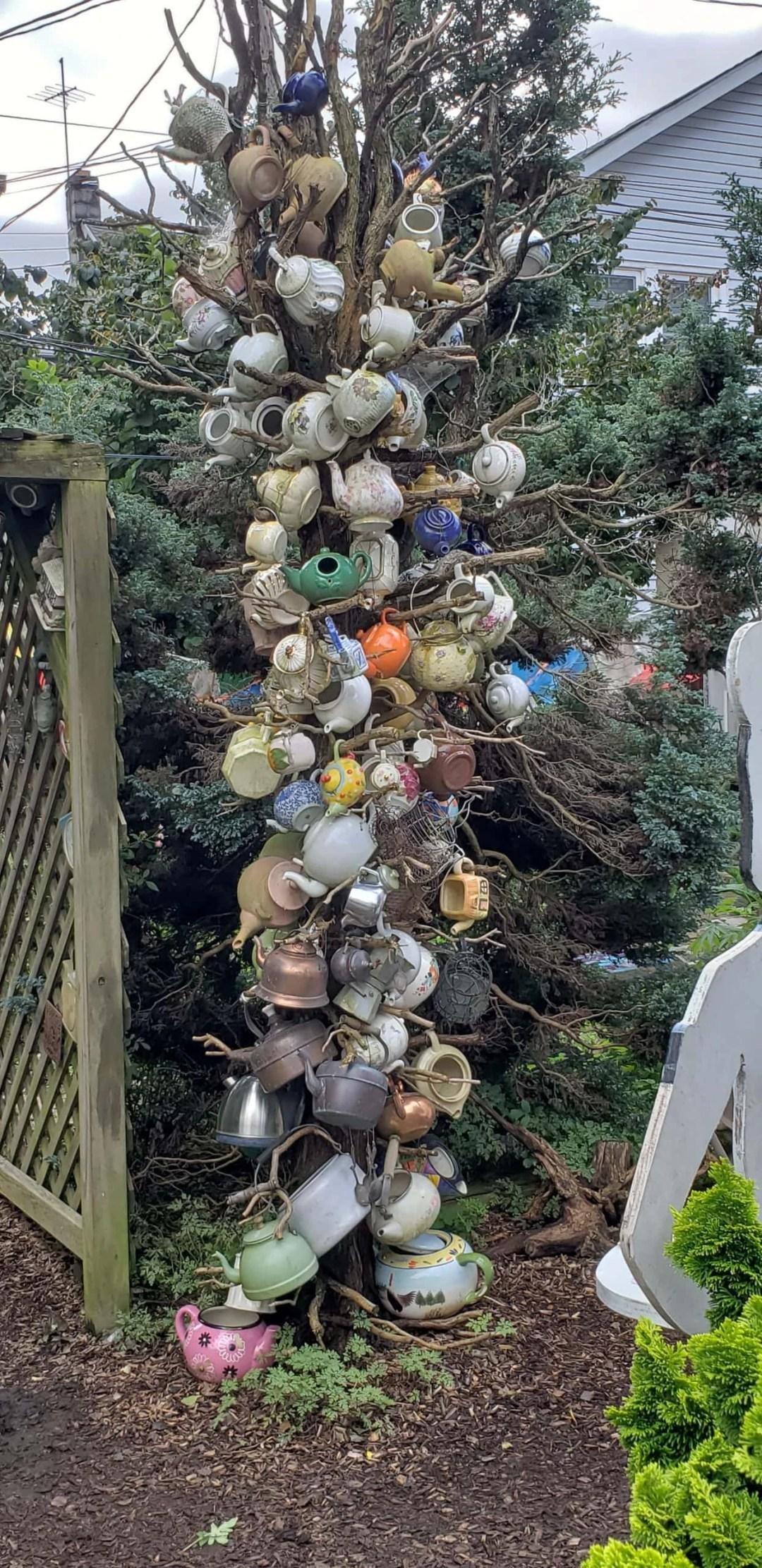 the annual Teapot Tree at the Pennsylvania Tea Festial