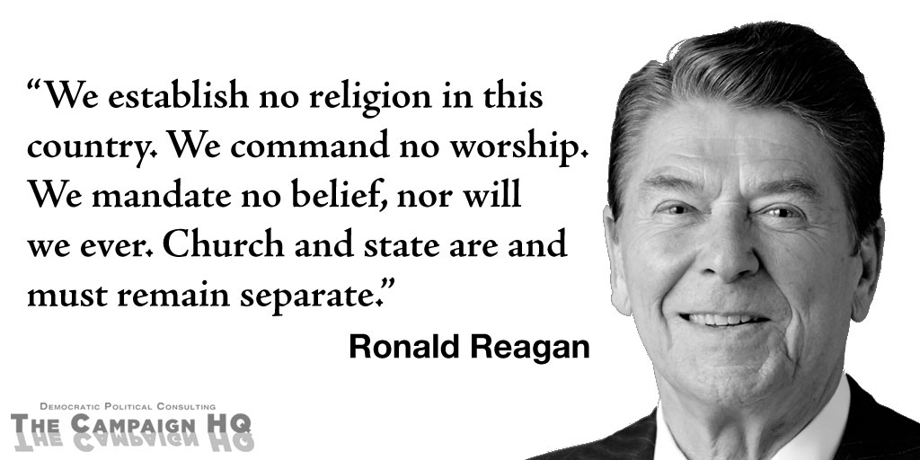 Ronald Reagan on Separation of Church and State