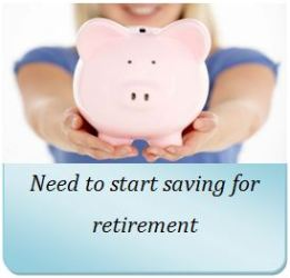 Need to starting saving for retirement