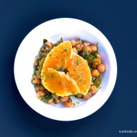 Fresh Orange Chick Pea Salad: Refreshing and Cooling