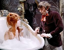"""Sharon Tate, in the tub, being """"saved."""" © 1967 – MGM. All Rights Reserved."""