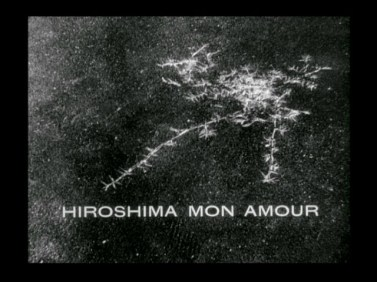 The title insert reveals the psychic scarring of the A-Bomb. © 1959 – Argos Films. All Rights Reserved.